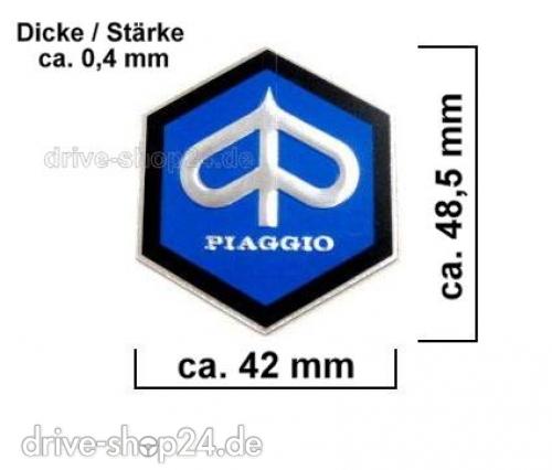 Drive Shop24de Piaggio 6 Eck Emblem Plakette Aufkleber